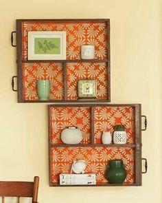 Ideia para reaproveitar aquelas gavetas velhas. www.eutambemdecoro.com.br Foto…