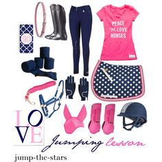 Navy and pink English outfit