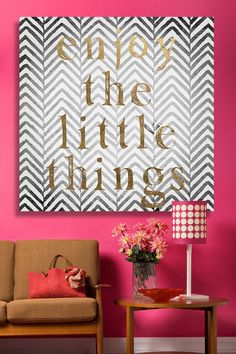 Oliver Gal Enjoy The Little Things Canvas Wall Art on @HauteLook