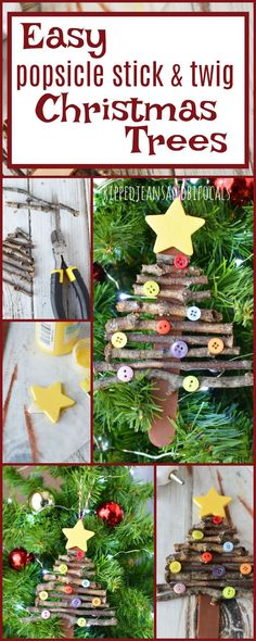 Super easy holiday craft for kids! Popsicle stick Christmas tree ornament|Ripped Jeans and Bifocals |Easy Christmas crafts|Christmas crafts for kids|girl scout troop activities|girl scout troop Christmas crafts|School Christmas craft|Homemade Christmas ornaments|Handmade Christmas ornaments|Easy Christmas ornaments DIY|