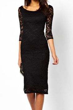 pretty-lady-black-lace-overlay-evening-midi-dress