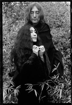 John Lennon and Yoko Ono  © Ethan Russell, Date Unknown