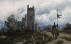 Ruins, Mathias Zamęcki on ArtStation at https://www.artstation.com/artwork/mAlEe