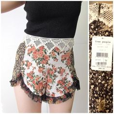Free people garden floral shorts sz 6 -WELCOME to my addiction :-)-  I always have NEW items posted frequently so please keep checking back :-)!  BUNDLES are more than welcome and encouraged to save you shipping!  Please refer to description and photos to see fit.   BRAND: free people  SIZE: 6 COLOR: multi floral  CONDITION: new with tags   MEASUREMENTS. Waist: 15in Inseam: 3in Length: 12in. Sides are shorter    Other details: multi colored.  Floral pattern   NO SWAPS/TRADES just looking to…