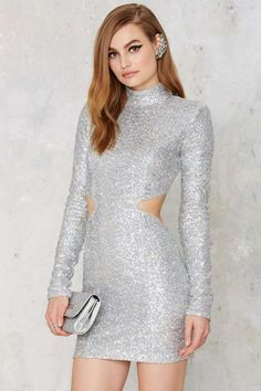 Take a Shine Sequin Cutout Dress - Best Sellers