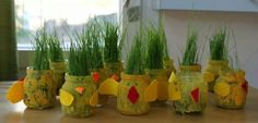 Easter Art, Easter Crafts, Art For Kids, Crafts For Kids, Bible School Crafts, Planter Pots, Projects To Try, Jar, Spring