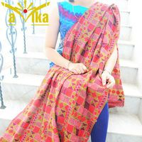 Beautiful dupatta with intricate work.