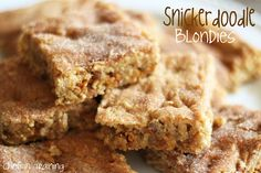 Snickerdoodle Blondies! #recipe #dessert