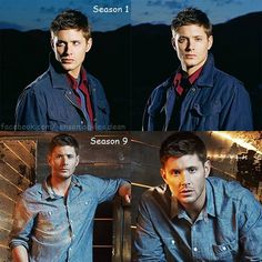Season 1 and 9 promo shots he just improves with age. Sexy. ;)