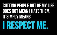 I respect Me!