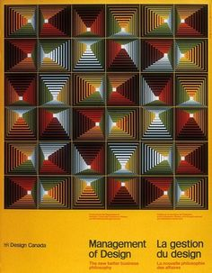 Burton Cramer(Yale MFA 1957), artwork for Management of Design, 1984. Canada.