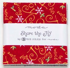 Share The Joy Christmas Winter Holiday Moda by LauriesFabricHouse, $8.25