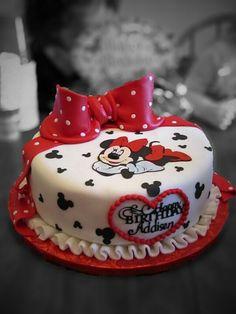 Addisens 3rd birthday cake Minnie Mouse