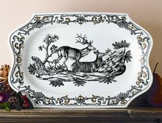 Dupaquier Platter by Mottahedeh  - Reproductions of DuPaquier factory porcelain, c. 1730-1740, from the collections of the Prince of Liechtenstein are produced for the Metropolitan Museum of Art.
