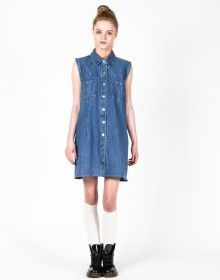 Denim Pocket Detail Dress UK 12-14