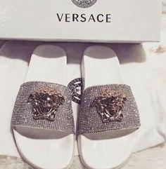 Silver  Versace flats
