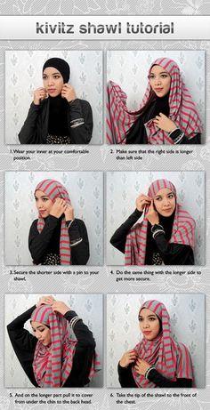 26 Ideas How To Wear Hijab Ideas Head Scarfs Headscarves Islamic Fashion, Muslim Fashion, Modest Fashion, Hijab Fashion, Women's Fashion, Muslim Girls, Muslim Women, Mehndi, Hijab Style Tutorial