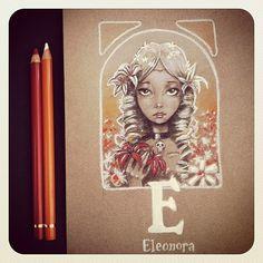 E is for Eleonora. The ABC of E.A. Poe by David G. Forés.  (http://instagram.com/donvito)