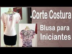 Corte e Costura passo-a-passo Blusa para Iniciantes - Blusa Fácil - YouTube