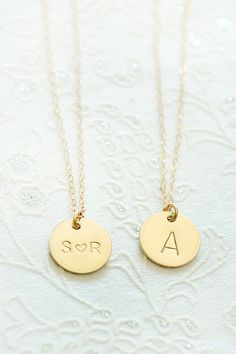Girlfriend Gold Initial Necklace Pendant Necklace Personalized Necklace Jewelry Initial Jewelry Necklace Jewelry Personalized Limonbijoux  Gold Initial Necklace Pendant Necklace Personalized Necklace Jewelry Initial Gold Filled Disc Jewelry Necklace Jewelry Personalized Necklace Limonbijoux So lovely, gold filled disc 1/2 inch features initial of your choice, or two initials with a heart! Pretty gold filled 16 inch chain. There is space at checkout to message me your choices. This is great…