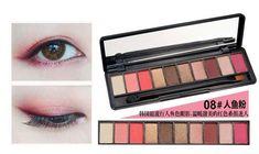 NOVO Brand Fashion 10 Colors Shimmer Matte Eye Shadow Makeup Palette Light Eyeshadow Natural Make Up Cosmetics Set With Brush #eyeshadowsnatural