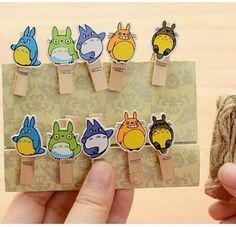 Totoro Cartoon Wooden Paper Clips (10Pcs/Lot) //Price: $7.99 & FREE Shipping //   #lovehippiecat #paper #scrapbooking #craft #papercrafts