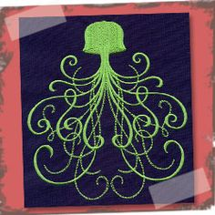 How fun is this - a glow in the dark jellyfish.  Yet another reason to add glow in the dark thread to EnMart's inventory.