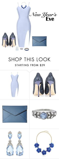 """""""New Year's Eve Party"""" by lolla-roma on Polyvore featuring Jimmy Choo, Rebecca Minkoff, Cathy Waterman, Oscar de la Renta, BERRICLE and 1st & Gorgeous by Carolee"""