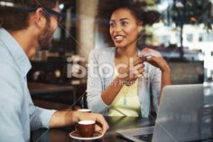 Swopping creative ideas in a relaxed environment Royalty Free Stock Photo
