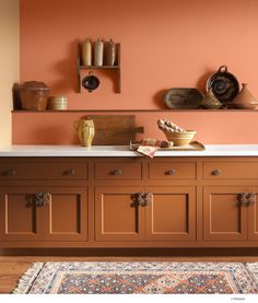 Genial An Orange Wall Can Bring Extra Rustic Warmth To Any Kitchen. Color Name:  Valspar Toasted Apricot 2006 3B.