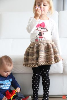 Handmade crochet skirt for little girl