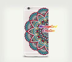 Mandala Clear Phone Case Cover for iPhone 6 6s plus by MessageCard