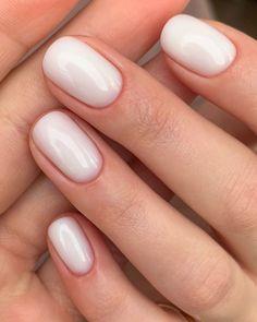 Neutral Gel Nails, Blue Gel Nails, Almond Acrylic Nails, French Manicure Nails, Gel Manicure, Manicure Ideas, Nail Ideas, Nail Polish Designs, Nail Designs