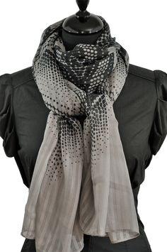 Foulard graphique gris
