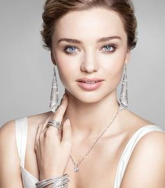 Swarovski Fit Silver Shade Pierced Earrings worn by Miranda Kerr. Available in Silver Shops and online: http://silvershop.com.au/250-500/swarovski-mesh-fit-earrings