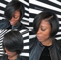 50 Best Bob Hairstyles for Black Women to Try in 2019 - Hair Adviser - Short Hair Styles Curly Bob Hairstyles, Black Women Hairstyles, Layered Hairstyles, Protective Hairstyles, Hairdos, Protective Styles, Weave Hairstyles, Girl Hairstyles, Bob Styles