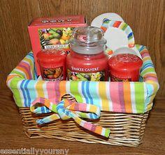 Yankee Candle Tropical Gift Basket Sandal Tealight Holder Votive Tealight Jar | eBay