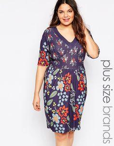 Image 1 ofPink Clove Floral Print Tea Dress