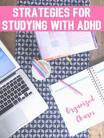 strategies for studying with adhd