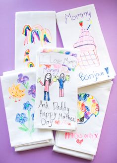 hello, Wonderful - DIY KIDS' ART TEA TOWELS: CUTE HANDMADE MOTHER'S DAY GIFT