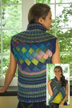 Entrelac Circle Vest - endless possibilities