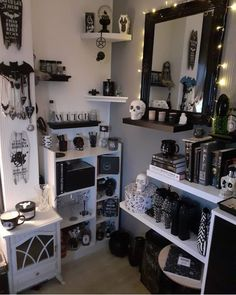 omg omg omg this is decor goals thewhisperingwoods goth gothic goths metal metalhead rock gothicbeauty darkness gothicboy 24 do it yourself gothic house decor concepts Gothic Room, Gothic House, Gothic Bedroom Decor, Grunge Bedroom, Goth Home Decor, Gypsy Decor, Regal Design, Design Design, House Design