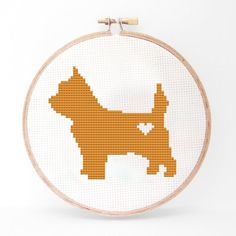 40% OFF EVERYTHING Cairn Terrier Silhouette Cross by kattuna