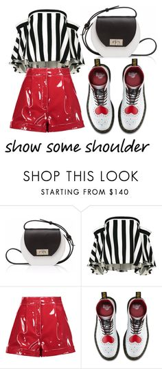 """show some shoulder"" by whyfashionblog on Polyvore featuring moda, Joanna Maxham, Milly, Valentino, Dr. Martens e showsomeshoulder"