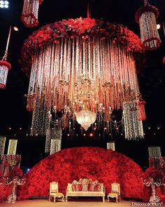 23 Eye-Catching Simple Indian Wedding Décor Ideas: Magnetic and Captivating Ideas You Mustn't Ignore Wedding Stage Decorations, Desi Wedding Decor, Marriage Decoration, Wedding Mandap, Backdrop Decorations, Wedding Themes, Red Wedding Receptions, Reception Stage Decor, Backdrops