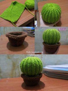crochet simple cactus ideas – Diy crochet # diy ideas Fauna and Flora are two terms … Cactus En Crochet, Crochet Puff Flower, Crochet Flower Patterns, Crochet Flowers, Crochet Cactus Free Pattern, Crochet Simple, Crochet Diy, Crochet Round, Crochet Gifts