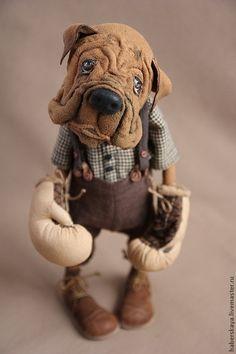 """Купить """"Мама, я тебя защитю"""" собака боксер - хаберская татьяна, Хаберская, <em>выкройки</em> собака, боксер, щенок"""