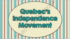 Quebecs Independence Movement -- Interactive Notes and Activities from Brain Wrinkles on TeachersNotebook.com -  (26 pages)  - Quebec's Independence Movement -- Interactive Notes and Activities