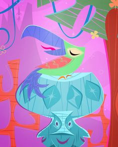 Tiki Art, Princess Peach, Disney Princess, Disney Characters, Fictional Characters, Artist, Instagram Posts, Fantasy Characters, Disney Princes