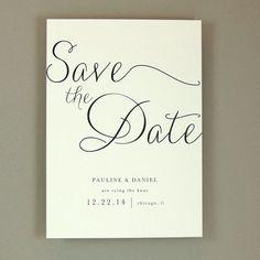 Pauline Suite - Modern Elegant Wedding Save the Date / Announcement - Classic Elegant Invite - Customizable Wedding Stationery - Sample #SaveTheDateWeddingIdeas